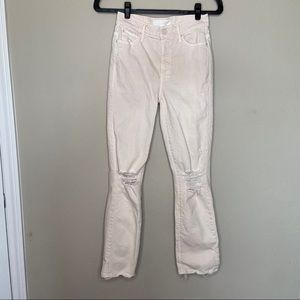 MOTHER High Waisted Rascal Ankle Distressed 24